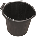 General Purpose 3 Gallon Plastic Bucket - Black