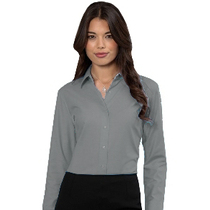 932F Ladies Long Sleeve Silver Blouse