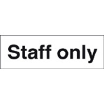 Staff Only Safety Sign Self Adhesive Vinyl