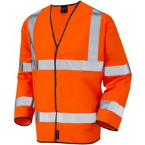 BS03 S01 Hi-Vis Orange Long Sleeve Waistcoat
