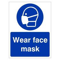 MAP.17W Wear Face Mask Sign - 150MM x 200MM