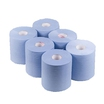 Blue 2-ply centre feed roll, 6 rolls per case