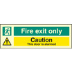 Fire Exit Only - This Door Is Alarmed (Self Adhesive Vinyl,300 X 100mm) (22061G)