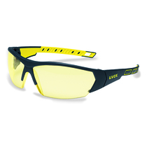 uvex i-works Black/Yellow Frame Amber Lens Spec