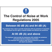 Noise At Work Regulations (Rigid Plastic,200 X 150mm)