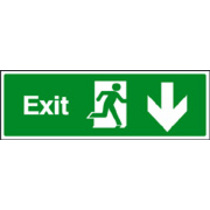Exit Down (Self Adhesive Vinyl,300 X 100mm) (22016G)