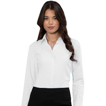 932F Ladies Long Sleeve White Blouse