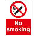 No Smoking Safety Sign Self Adhesive Vinyl