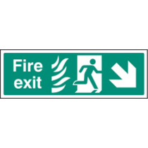 Fire Arrow Down Right Htm (Self Adhesive Vinyl,300 X 100mm) (22090G)