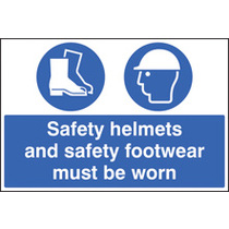 Helmets/footwear Must Be Worn (aluminium,600 X 400mm)