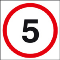 5 mph Safety Sign Rigid Plastic