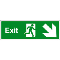 Exit - Down And Right (photo. Rigid Plastic,450 X 150mm)