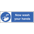Now Wash Your Hands (Self Adhesive Vinyl,300 X 100mm)