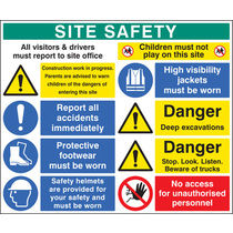 Site Safety Board 1000x1200mm