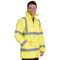 Hi-Vis Standard Saturn Yellow Jacket - 3XL