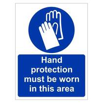 MAP.42W Hand Protection Must Be Worn - 150MM x 200MM