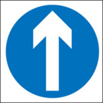 Straight Ahead Only (Rigid Plastic,400 X 400mm)