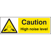 Caution High Noise Level (Rigid Plastic,600 X 200mm)