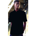 65116 Mens Short Sleeve Black Poplin Shirt