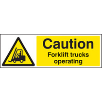 Fork Lift Trucks Operating (Self Adhesive Vinyl,600 X 400mm)