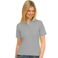 UC106 Heather Grey Ladies Pique Polo Shirt