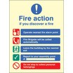 Fire Action Auto Dial Without Lift (photo. Self Adhesive Vinyl,200 X 150mm)