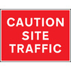 Caution - Site Traffic (Rigid Plastic,600 X 450mm)