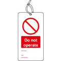 Safety Tag Do Not Operate Pack 10
