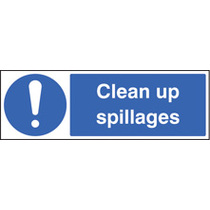 Clean Up Spillages (Self Adhesive Vinyl,300 X 100mm)
