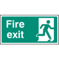Fire Exit - Right Symbol (Rigid Plastic,400 X 200mm)