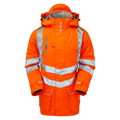 PR502 PULSAR® Rail Spec Padded Storm Coat - Orange GO/RT