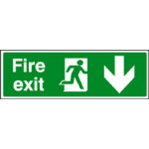 Fire Exit Down Sav Backed