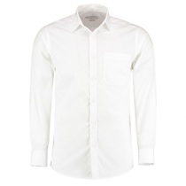 Shirt polycotton Long sleeve Classic White