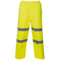 Hi-Vis Breathable Overtrousers - Yellow