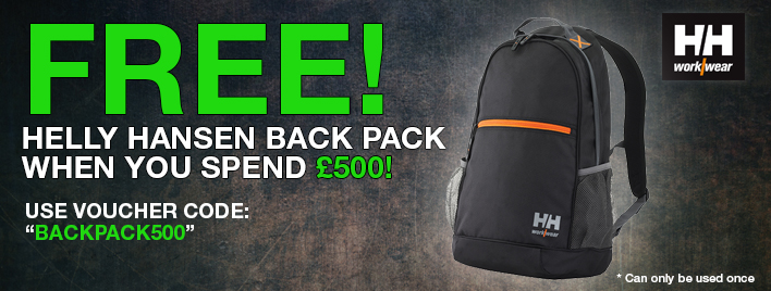 Get A Free Helly Hansen Back Pack When You Spend £500!