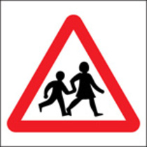 Children Crossing (Rigid Plastic,400 X 400mm)