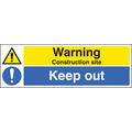 Construction Site Keep Out (Self Adhesive Vinyl,600 X 400mm)