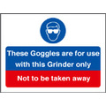 Goggles For This Grinder (Self Adhesive Vinyl,200 X 150mm)