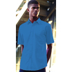 65116 Mens Short Sleeve Mid-Blue Poplin Shirt