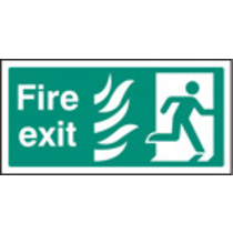 Fire Exit Right Htm (Self Adhesive Vinyl,300 X 150mm) (22082V)