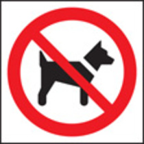 No Dogs (symbol) (Rigid Plastic,400 X 400mm)