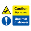 Use Mat In Shower (Self Adhesive Vinyl,100 X 75mm)