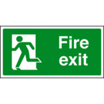 Fire Exit - Left (photo. Rigid Plastic,400 X 200mm)