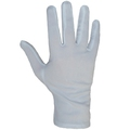 Glo64 Mens White Stretch Nylon Profile Glove