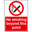 No Smoking Beyond This Point (Rigid Plastic,300 X 100mm)