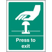 Press To Exit (Self Adhesive Vinyl,100 X 75mm) (22067A)