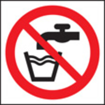 Not Drinking Water - Symbol (Self Adhesive Vinyl,200 X 200mm)