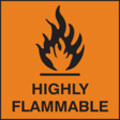 Highly Flammable (Self Adhesive Vinyl,150 X 150mm)