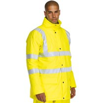 S490 Sealtex Hi-Vis Lined PU Jacket