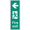 Fire Exit Left (portrait) (Self Adhesive Vinyl,450 X 150mm) (22053L)